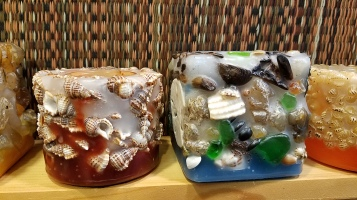 Turtle Island Gifts - agate and shell candles
