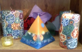 Turtle Island Gifts - mosaic and beach find candles